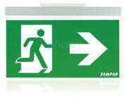 Zemper Spazio Sign LED Noodverlichting WIT/ALU - Zemper Spazio Sign LED Noodverlichting WIT/ALU