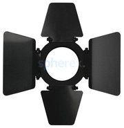 LED Armaturen - SPHEREX Showtec barndoor for parcan 16 armatuur Zwart