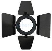 LED Armaturen - SPHEREX Showtec barndoor for parcan 20 armatuur Zwart