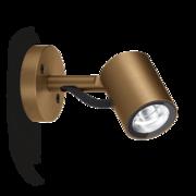 LED Armaturen - Lombardo Ago Wall LED Opbouwarmatuur Anodized Alluminum Brown