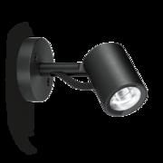 LED Armaturen - Lombardo Ago Wall LED Opbouwarmatuur Anodized Alluminum Black